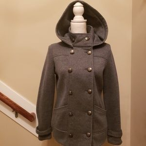 FOREVER 21 Button Up Hooded Coat, sz M